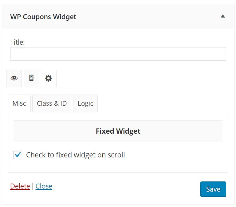 fixed widget scroll