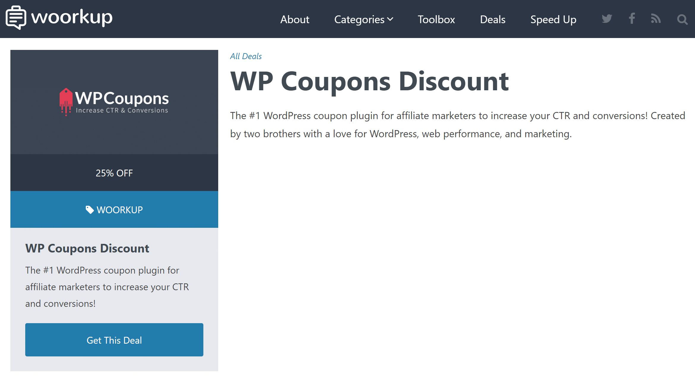 wp coupons layout left